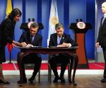 COLOMBIA ARGENTINA AGREEMENT SIGNING