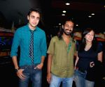 """Bollywood actor Imran Khan and his girlfriend Avantika with a friend at a private screening of fothcoming film """"Barah Anna"""" at Fame Adlabs in Mumbai Friday night. The film is releasing March 20."""
