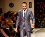 Bollywood actor Rahul Bose on the ramp for 'Mai Mumbai' Show at Lakme fashion week 2009.