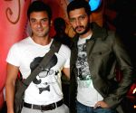 Bollywood actors Arbaaz Khan and Riteish Deshmukh at the Gladrags Mega Model Hunt 2009 finals held in Mumbai Sunday.
