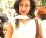 "Bollywood actress Rituparna Sengupta at Fun Cinemas for the screening of the movie ""Monsters vs Aliens"" for ""Thalassemia"" cause."