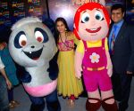 "Bollywood actress Vidya Balan launches new characters on space toon ""Fafa and Juno"" in Mumbai."