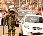 Bomb squad inspects suspicious car in Kolkata