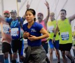 Mumbai Marathon - Mary Kom, Dingko Singh at a press conference