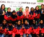 Mary Kom at Send-off ceremony for the Special Olympics Unified Cup 2018