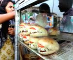 Bread being sold at a roadside eatery