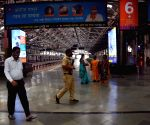 Break the Chain coronavirus control have State Government call on commuters support have stay safe home and working home for work they have seen railway platform empty at CSTM in Mumbai on Wednesday April 21, 2021
