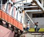 Mumbai footbridge crash - BMC workers demolish remaining parts of the bridge