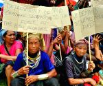 Protest against the repatriation from Naisingpara camp