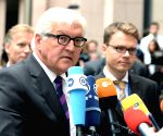 German Foreign Minister Frank-Walter Steinmeier attends an emergency meeting