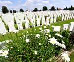 The biggest cemetery for the dead soldiers of the World War I in Belgium