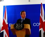 BELGIUM EU BRITISH PM PRESS CONFERENCE