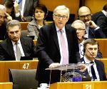 BELGIUM BRUSSELS EU PARLIAMENT JUNCKER WHITE PAPER