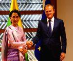 BELGIUM-BRUSSELS-TUSK-AUNG SAN SUU KYI