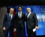 BELGIUM BRUSSELS EU CANADA SUMMIT CETA