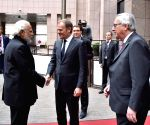 Brussels (Belgium): Modi meets European Council, European Commission presidents