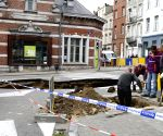 BELGIUM BRUSSELS ROAD COLLAPSE