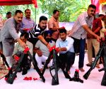 BSF officials perform Shastra Puja on Vijaya Dashmi