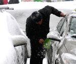 ROMANIA BUCHAREST SNOWSTORMS