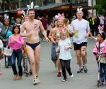 "The first half naked ""Bunny run"" in Budapest"