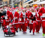 Budapest (Hungary): People participate in the first Santa Run