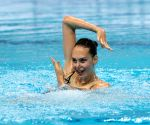 HUNGARY BUDAPEST FINA ARTISTIC SWIMMING WORLD CHAMPIONSHIPS SOLO FREE DAY 1