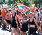 HUNGARY BUDAPEST GAY PRIDE PARADE