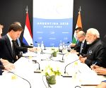 Buenos Aires (Argentina): G20 Summit - Modi meets Netherlands Prime Minister Mark Rutte