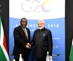 Buenos Aires (Argentina): G20 Summit - Modi meets South Africa President Cyril Ramaphosa