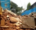 Free Photo:building collapsed in Bengaluru, no casualties reported