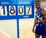 Burkina Faso's Zango breaks world indoor triple jump record