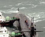SOUTH KOREA BUSAN US NUKE POWERED SUBMARINE ARRIVAL