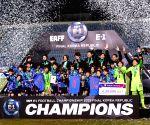 SOUTH KOREA BUSAN SOCCER EAST ASIAN CUP WOMEN AWARDING