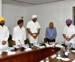 Amarinder Singh during a Cabinet meeting