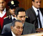 EGYPT CAIRO FORMER PRESIDENT MUBARAK MORSI'S JAILBREAK TESTIFYING