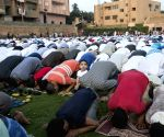 Egyptians during the Eid al-Fitr prayer