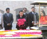 Cambodian PM at Rajghat