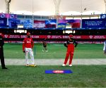 File Photo: Captian of RCB Virat Kohli, Captain of Kings XI Punjab KL Rahul during toss before match