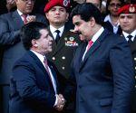Nicolas Maduro during a press conference