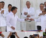 COLOMBIA CARTAGENA FARC PEACE DEAL SIGNING