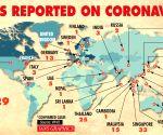 Cases reported on coronavirus