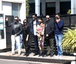 "Cast of upcoming film ""Bhoot Police"" seen in Mumbai"