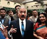 Anil Sinha interacts with media persons