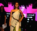 Celebs during Satya Paul's show at LFW Summer Resort 2015 - Day 4