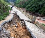 CHINA SICHUAN RAINSTORM DAMAGES