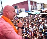 Anupam Kher hits Chandigarh streets for BJP candidate wife