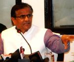 O P Dhankar during a press conference