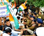 Congressmen march towards Haryana Assembly
