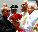 President Mukherjee arrives in Chandigarh