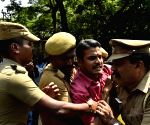 Students protest against ban of IIT Madras student group